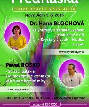Přednáška Hana Sar Blochová a Pavel Roško – 5.6. Nový jičín
