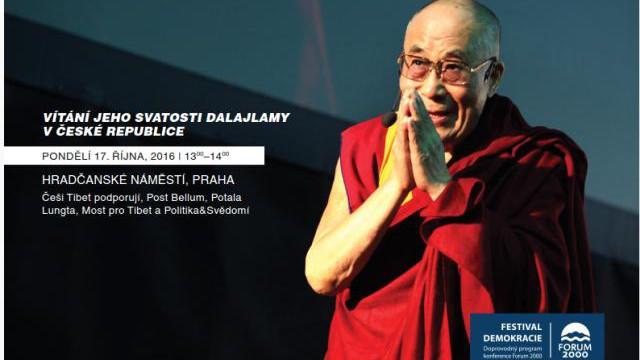 PŘÍMÝ PŘENOS – Uvítání Jeho Svatosti dalajlamy na Hradčanském náměstí + záznam přednášky JEHO SVÄTOSŤ XIV. DALAJLÁMA V BRATISLAVE