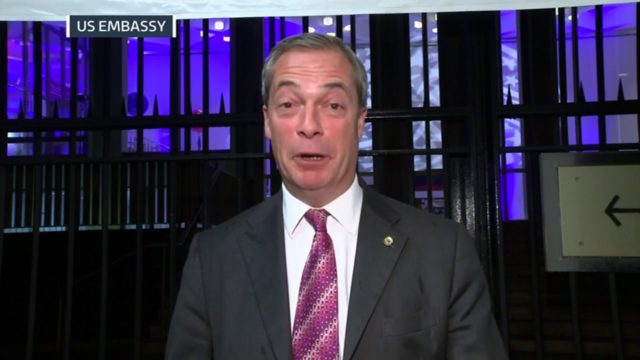 Britský euroskeptik Nigel Farage: Trumpův triumf je větší než Brexit. Jde o vítězství obyčejných lidí a vzpouru proti establishmentu